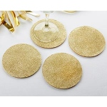 Kate Aspen Gold Glitter Coasters