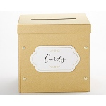 Kate Aspen Gold Glitter Collapsible Card Box