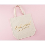 Kate Aspen Gold Foil Bridesmaid Canvas Tote (Personalization Available)