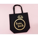 Kate Aspen Team Bride Canvas Tote (Personalization Available)