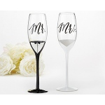 Kate Aspen Tuxedo and Wedding Gown Mr. & Mrs. Toasting Flutes