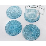 Kate Aspen Blue Glitter Coasters