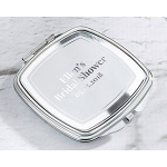 Kate Aspen Personalized Silver Compact - Silver Foil