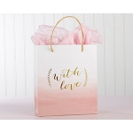 Kate Aspen With Love Pink Watercolor Gift Bag (Set of 12)
