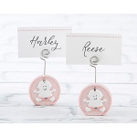Kate Aspen Baby Girl Pink Place Card Holder (Set of 6)