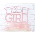 Kate Aspen It's a Girl Acrylic Cake Topper