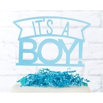 Kate Aspen It's a Boy Acrylic Cake Topper