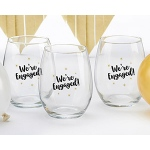 Kate Aspen We're Engaged 15 oz. Stemless Wine Glass (Set of 4)