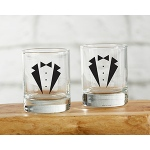 Kate Aspen Tuxedo Shot Glass (Set of 4)