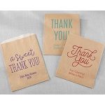 Kate Aspen Personalized Kraft Goodie Bags - Thank You (Set of 12)