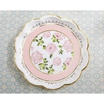 Kate Aspen Tea Time Whimsy Paper Plates - Pink