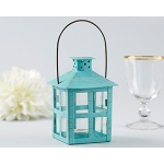 Kate Aspen Vintage Blue Distressed Lantern - Medium