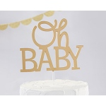 Kate Aspen Gold Oh Baby Cake Topper