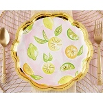 Kate Aspen Cheery and Chic Citrus Paper Plates