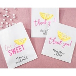 Kate Aspen Personalized White Goodie Bags - Cheery and Chic (Set of 12)