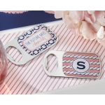 Personalized Bottle Opener with Epoxy Dome: Kate's Nautical Bridal Shower Collection