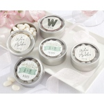 Personalized Round Candy Tin, Kate's Rustic Wedding Collection: Set of 12