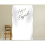 Personalized Photo Backdrop: Classic Grand Script