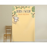 Kate's, Born To Be Wild, Personalized Monkey on Vine Photo Backdrop