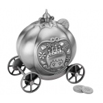 Lillian Rose Fairytale Coach Pewter Bank