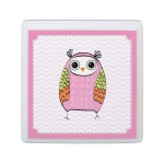 Lillian Rose Pink Owl Sm Square Sign