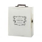Lillian Rose Antique White Wine Box-True Love