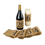 Lillian Rose Burlap Table Number Wraps: Numbers 1-20