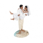 Lillian Rose Beach Wedding Figurine -African American