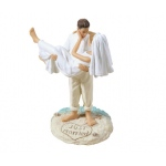 Lillian Rose Beach Wedding Figurine - Caucasian