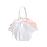 Lillian Rose Large Satin Basket - White