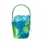 Lillian Rose Blue & Green Flower Basket