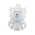 Lillian Rose White Scroll Frame 4 x 6