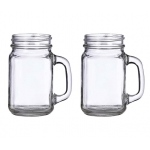 Lillian Rose Set of 2 Mason Jar Mugs