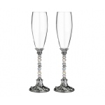 Lillian Rose Beaded Glasses - Silver