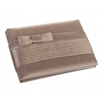 Lillian Rose Taupe Pleated Silk Guest Book