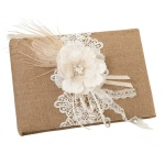 Lillian Rose Burlap & Lace Guest Book