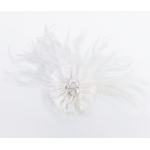 Lillian Rose Marabou Feather Hair Clip - White