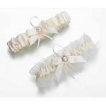 Lillian Rose Set of 2 Ivory Pearl Garters