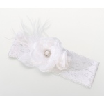 Lillian Rose Vintage Wide Garter - White