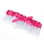 Lillian Rose Pink Satin Garter