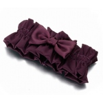 Lillian Rose Plum Satin Garter
