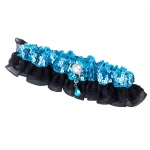 Lillian Rose Sequin & Satin Garter - Aqua