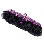 Lillian Rose Sequin & Satin Garter - Purple