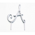 Lillian Rose Silver Rhinestone Monogram - Large A