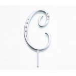 Lillian Rose Silver Rhinestone Monogram - Large C