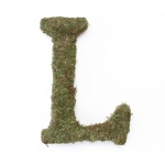 Lillian Rose Large 15 inch Moss Monogram Letter - L
