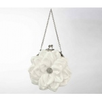 Lillian Rose Flower Purse - Creamy White