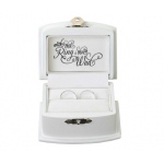 Lillian Rose White Ring Bearer Box