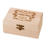 Lillian Rose Pine Ring Bearer Box - True Love