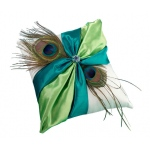 Lillian Rose Peacock Ring Pillow
